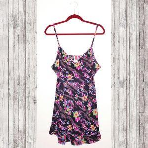 Other - Neon Sheer Floral Slip Dress